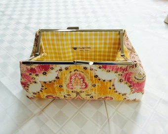 Yellow and Pink Clutch