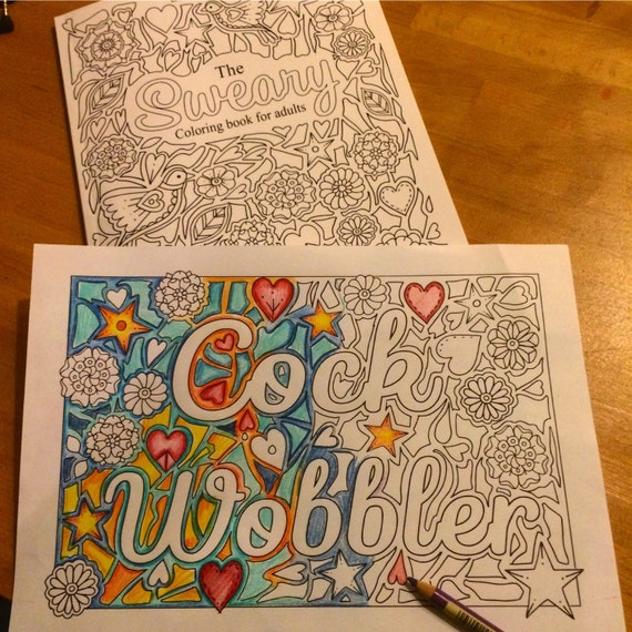 Sweary Coloring Book Download : sweary coloring page cockwobbler Swearing Coloring Pages