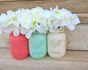 Coral and Mint Baby Shower, Coral and Mint Wedding, Coral and Mint Nursery, Coral and Mint Baby, Centerpieces, Coral and Mint,Wedding Shower