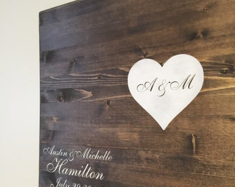 Wooden Sign - Wedding Guestbook - Custom Wedding Guestbook - Wedding Decor