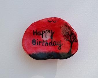 Birthday Card, Unique Birthday Card, Hand Painted Birthday Card, Painted Shell Birthday Card, Personalised Card, Customised Card, Blank Card