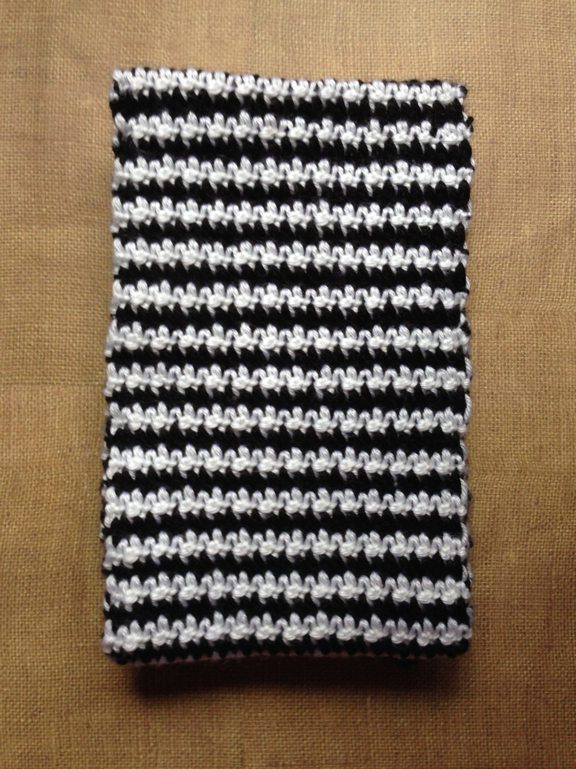 Handmade Knit Crochet Houndstooth Scarf - Gift For Her - Soft - Cozy ...