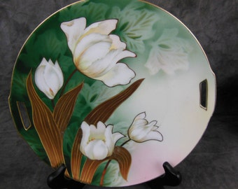 Antique RS Floral Plate - Signed - Germany
