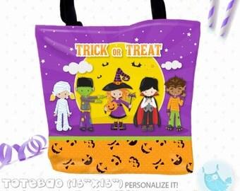 SALE halloween Personalized Tote Bags, custom Tote bag, kids tote, school tote, kindergarten tote, beach tote bag, Tote Bags TB143