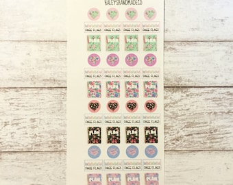 PERSONAL Floral Planners, Page Flags, Hearts Stickers