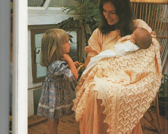 Vintage Knitting Pattern for Baby Blanket