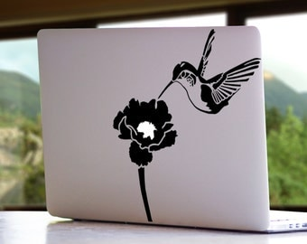 Hummingbird Animal Flower Bird Nature MacBook Mac iPad Laptop Decal Sticker