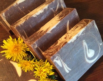 DANDELION ROOT SOAP....Excellent for Psoriasis, Eczema, Dermatitis, and Skin Irritations...With Calendula, Yellow Dock, and Honey