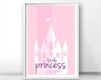 Pink Nursery Wall Art, Girls Room Print,  Baby Girl Nursery Art, Little Princess Print,  Pink Wall Art Print, Pink Nursery Decor, Pink Print