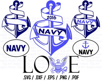 Military SVG File, Navy SVG Art, Support Our Troops Design Files, Silhouette Software, dxf files, svg file, EPS File, Cricut Design - CA283