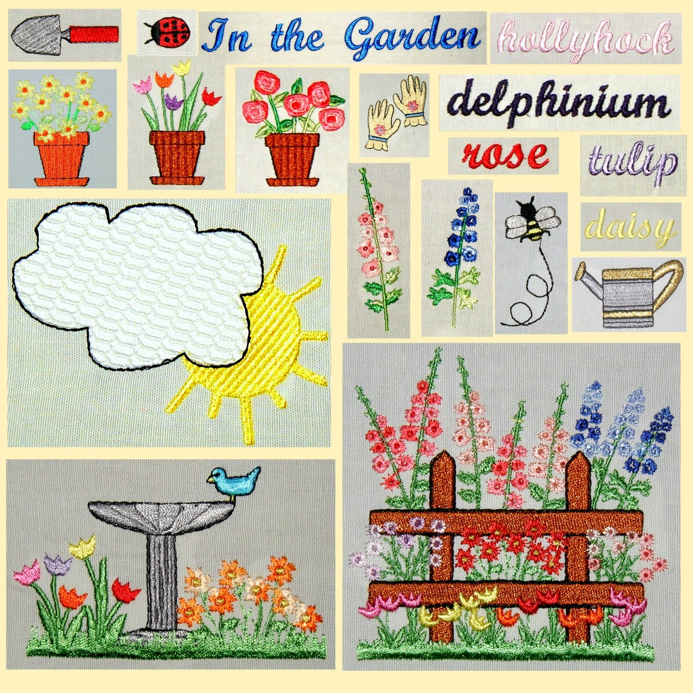 In the Garden Machine Embroidery Designs