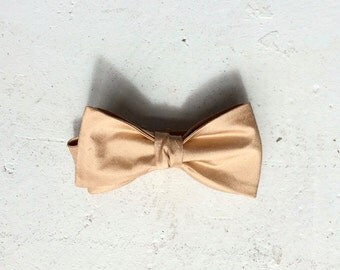 Warm Gold Silk Bow Ties