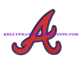 Atlanta Braves Embroidery 4 SIZES!