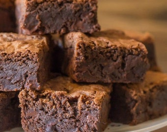 Fudge Milk Chocolate Brownies, Edible Gift, Homemade Brownies, Made to Order, Fudgy Brownies, Baked Goods, Soft Baked Goods, Birthday Party