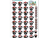 Disney Christmas Countdown or Date Cover Stickers - Disney Planner Stickers