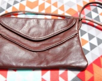 Vintage Brown Faux Leather Purse