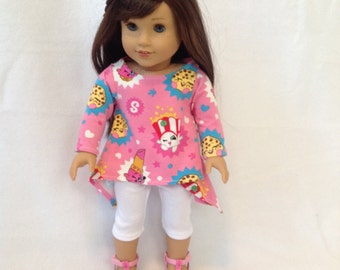 "American Girl Doll (or other 18"" doll) twirly shirt and leggings"