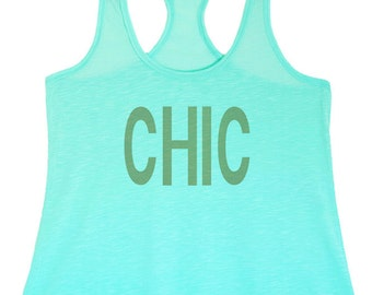 Women's Regular CHIC Printed Graphic Polyester Tank Top - S ~ XL  (pt-070-tp)