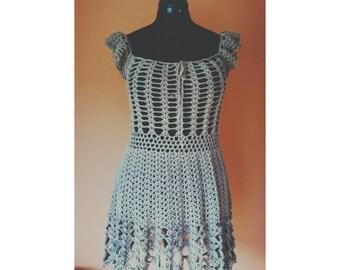 delicate handmade crochet dress