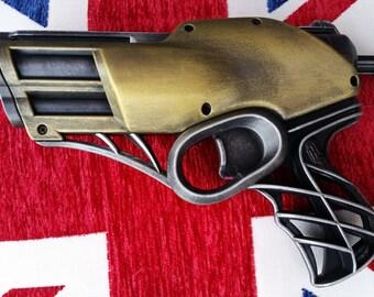 Steampunk / Art Deco inspired Brass & Steel style cosplay Nerf Pistol
