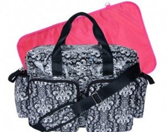 Monogram Midnight Fleur Deluxe Duffle Diaper Bag