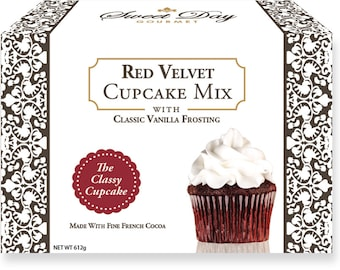Red Velvet Cupcake Mix w/Classic Vanilla Frosting