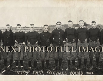"1914 Notre Dame Football Team Vintage Photograph Panoramic Panorama 7"" x 36"" Long"