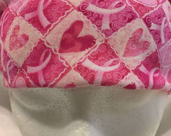 Breast cancer bandana full size adult pink ribbon