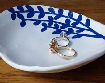 Jewelry Dish - Catch All Dish - Ring Dish - Clay Jewelry Dish - Handmade Jewelry Dish - Ivy Dish - Handmade Polymer Clay Jewelry Dish