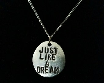 The Cure - Just Like Heaven pewter charm necklace