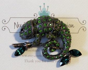 Green Chameleon Needle Minder