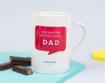 Bestest Ever Daddy Mug -  personalised - Father's Day gift - personalized mug for dad