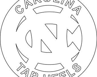 Carolina Tar Heels circular sign