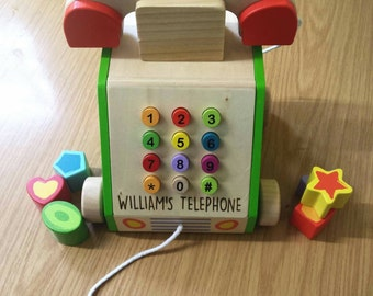 Pull along shape sorter activity phone  toy - 00051