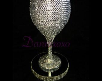 "Diva"" crystal wine glass"