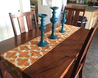 Orange Table Runner - Wedding Table Decor - Kitchen Table Runner - Table Runner