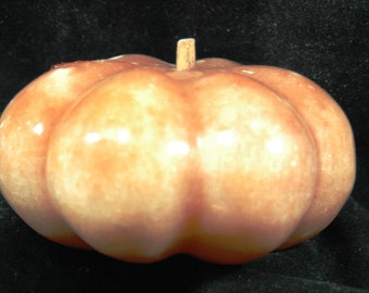 Antique Carved Stone Fruit Squash or Pumpkin   01154