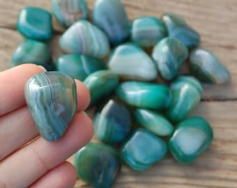 Green Agate loose gemstones