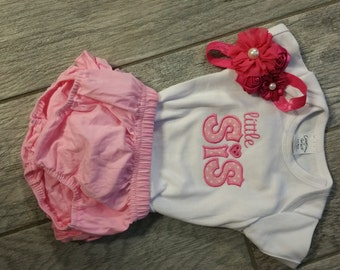 Little Sis Onsie with ruffled diaper cover