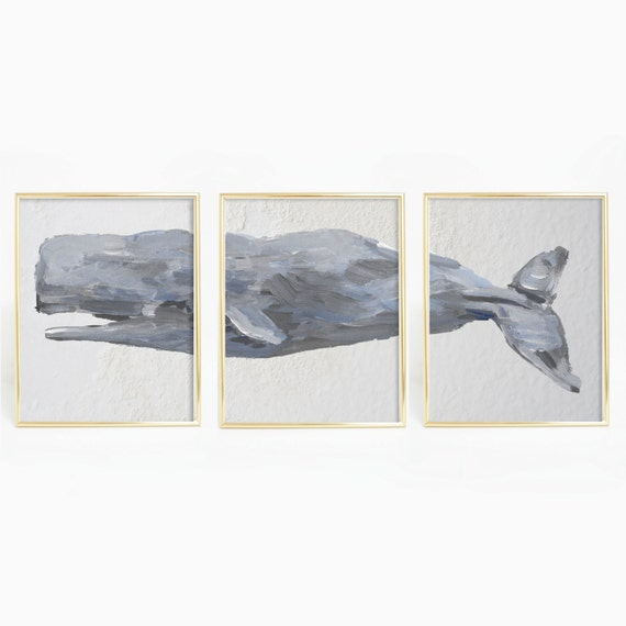 Sperm Whale Print, Whale Wall Art, Mantel Print Nautical Decor, Ocean Decor, Ocean Art Print, Sea Life Print, Nautical Nursery Digital Print