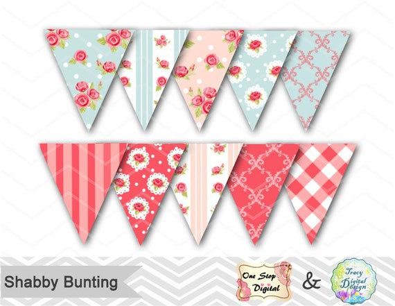 shabby chic bunting - photo #45