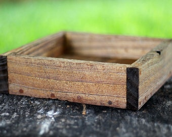 Mini Rustic Farm Serving Tray (Aged/Rustic Shown), Ottoman Tray, Wooden Tray, Serving Tray, Coffee Table Tray, Cocktail Tray, Farm Tray