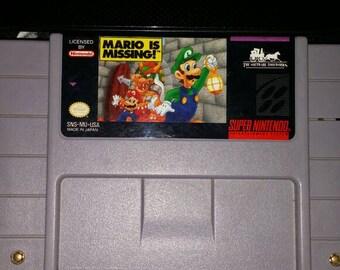 Mario is missing for snes super nintendo