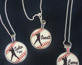 Baseball Necklace. Custom Baseball Necklace. Baseball Mom. Baseball Gift. Baseball