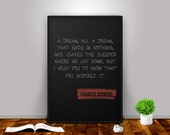 A Tale of Two Cities - Charles Dickens Quote Poster Quote Print Book Poster - Literature Home Decor Room Wall Literary Reader Gift Printable