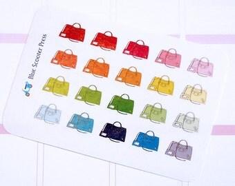 FS101M// Hand drawn Fashion Balenciaga Bag Stickers! 20 MATTE planner stickers.