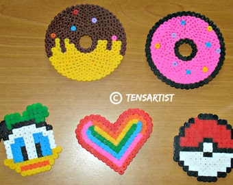 Coasters and hama beads various
