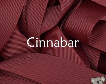 Cinnabar Grosgrain Ribbon 3 Metre Cut, FREE Shipping, 64 Colours in 7 Widths Available