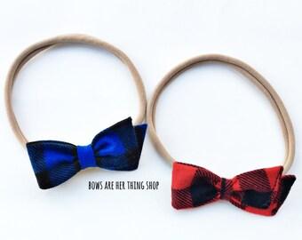BUFFALO PLAID bow