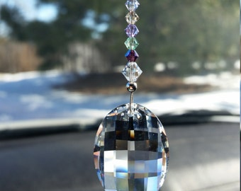Buddha Car Charm Buddha Suncatcher Meditation Crystal Rear